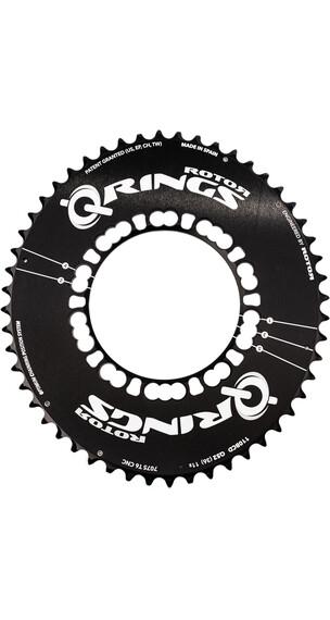 Rotor Q-Ring Road Aero kettingblad 110 mm 5-armig buiten zwart